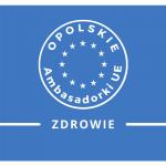 Logo Opolska Ambasadorka UE z nazwą kategorii zdrowie