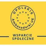 Logo opolska ambasadorka ue z nazwą kategorii: wsparcie społęczne