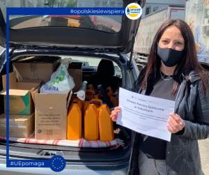 Dostawa środków i urządzeń dezynfekujących do Ośrodka Pomocy Społecznej w Tułowicach