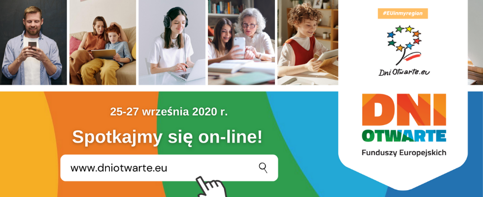 Baner Dni Otwarte Funduszy Europejskich 2020